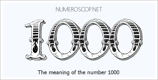 Angel number 1000 meaning