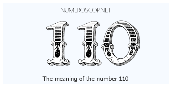 Angel number 110 meaning
