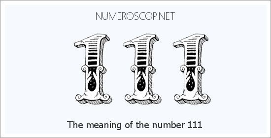 Angel number 111 meaning