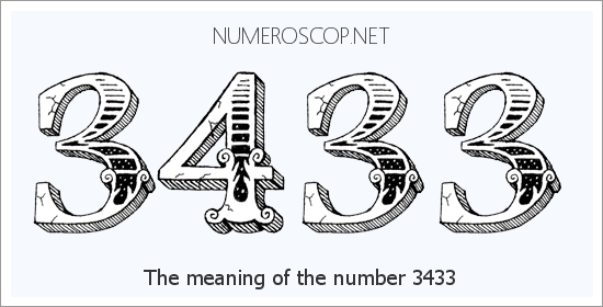 Angel Number 3433 – Numerology Meaning of Number 3433