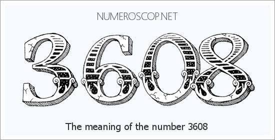 Meaning of 3608 Angel Number - Seeing 3608 - What does the number mean?