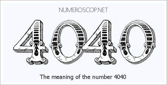 Angel number 4040 meaning
