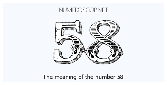Angel number 58 meaning