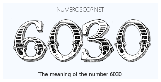 Angel number 6030 meaning
