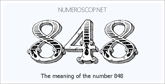 Angel number 848 meaning