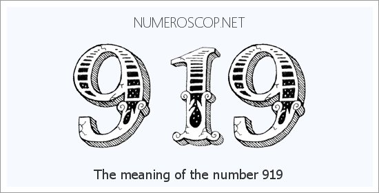 Angel number 919 meaning