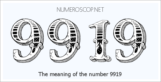 Angel Number 9919 – Numerology Meaning of Number 9919